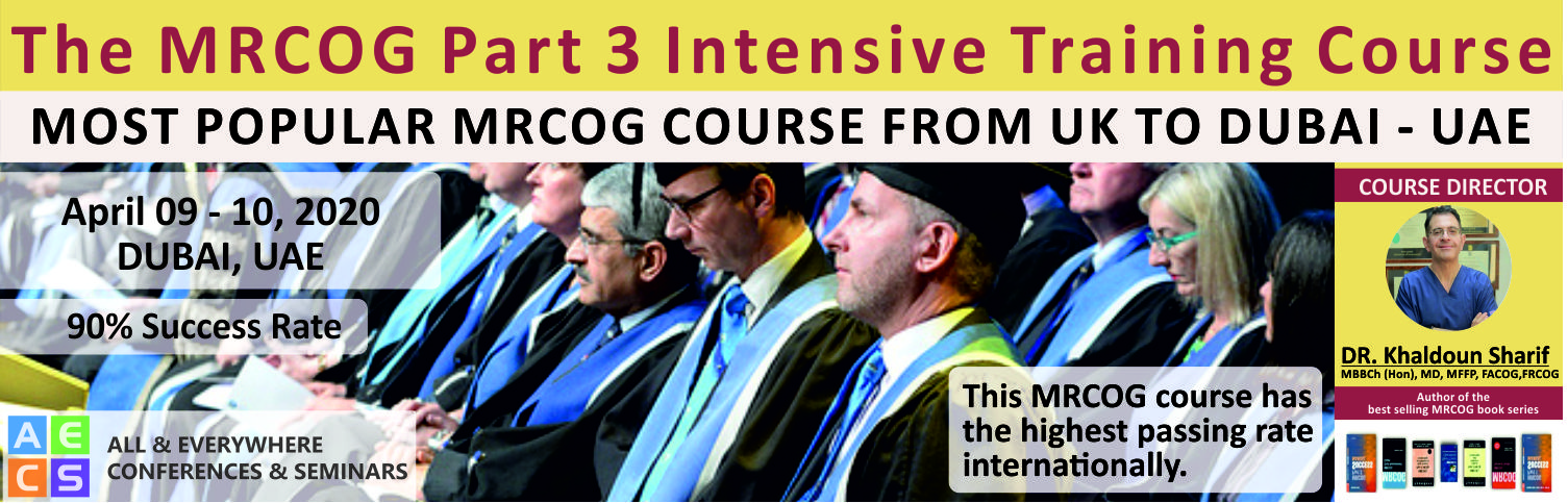 The MRCOG Part 3 Intensive Training Course - April 9 - 10, 2020