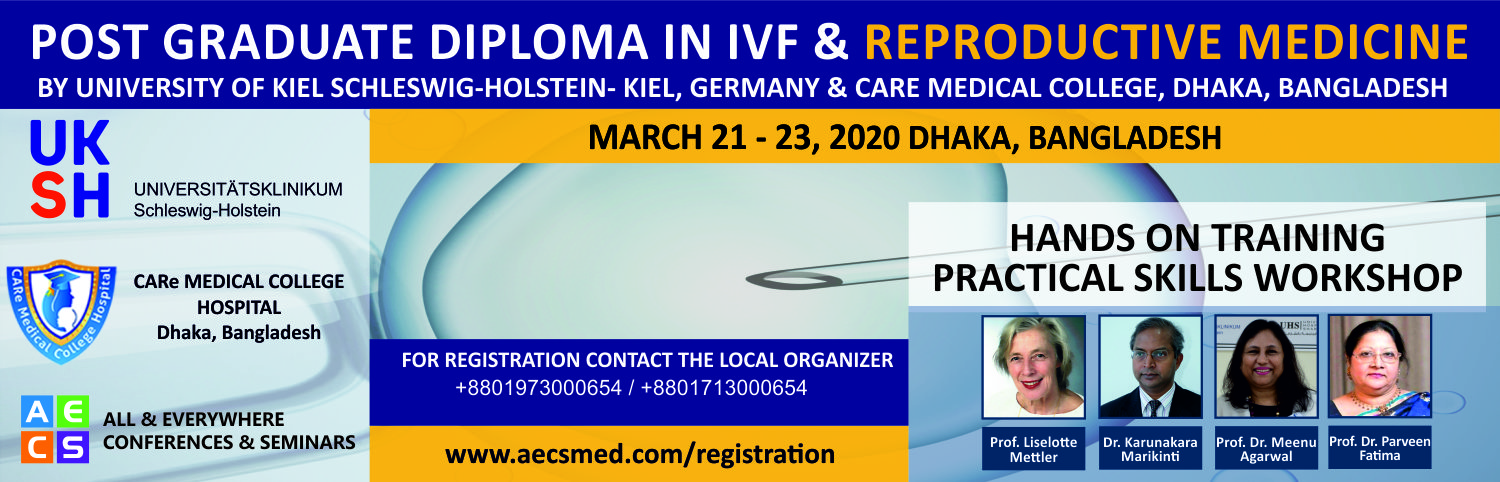 Post Graduate Diploma in IVF and Reproductive Medicine - March 21-23 2020