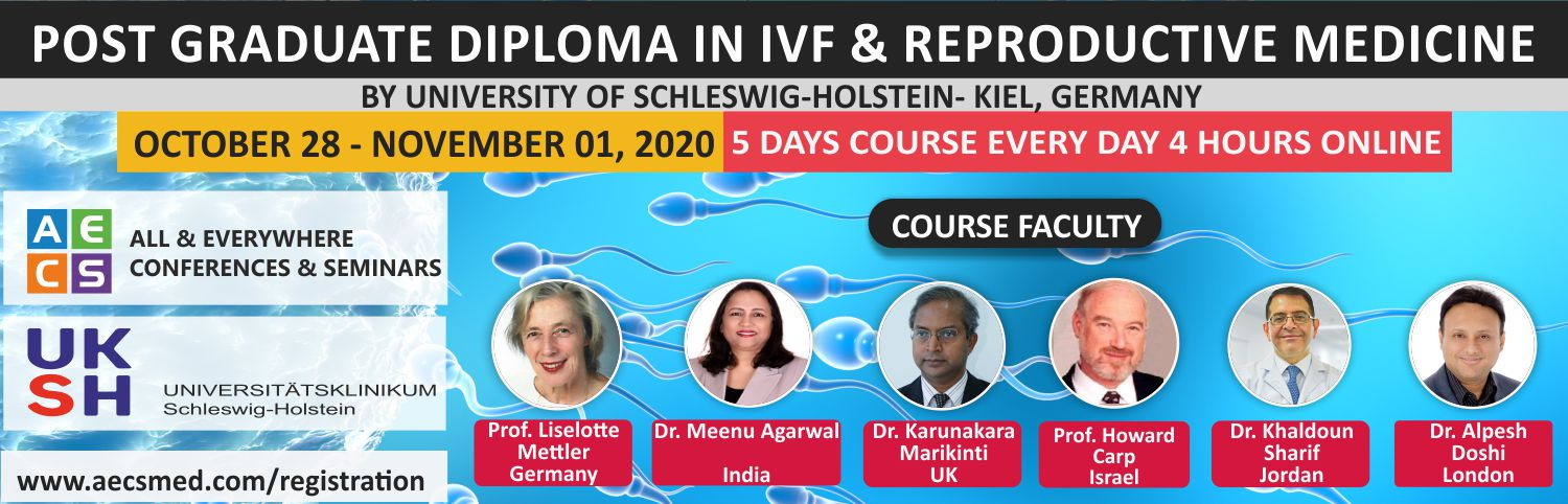 Web - Online Master Certification Course in ART and Reproductive Medicine - October 28 - November 01, 2020