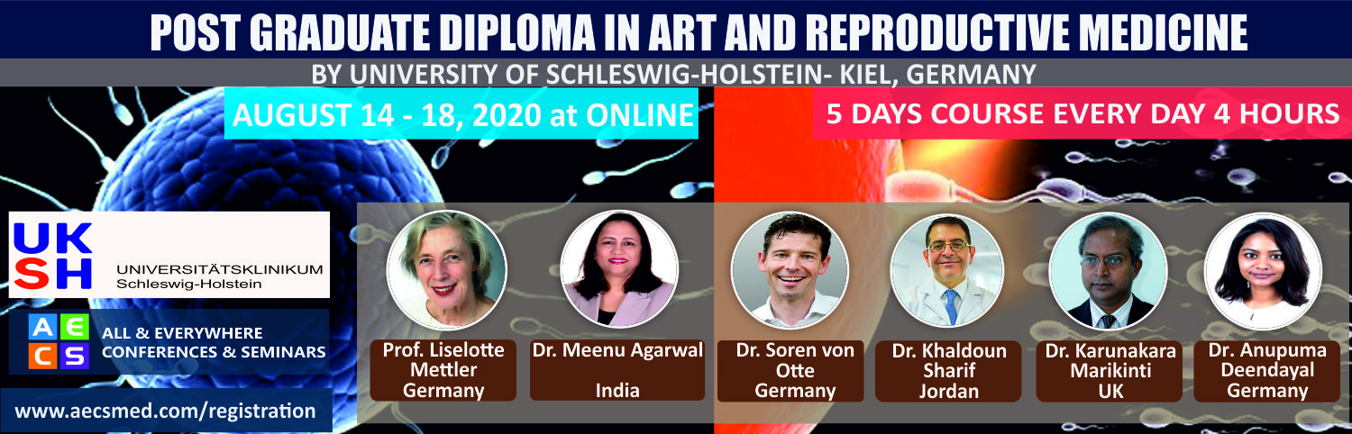 Web - Post graduate diploma in ART and Reproductive Medicine - August 14 - 18, 2020