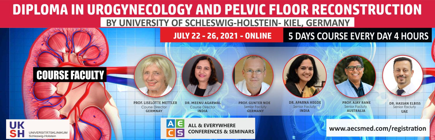 Web - Diploma in Urogynecology and Pelvic Floor Reconstruction - July 22 - 26, 2021