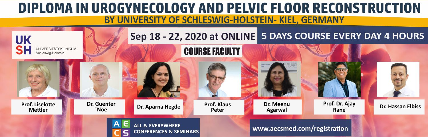 Web - Diploma in Urogynecology and Pelvic Floor Reconstruction - Sep 18 - 22, 2020