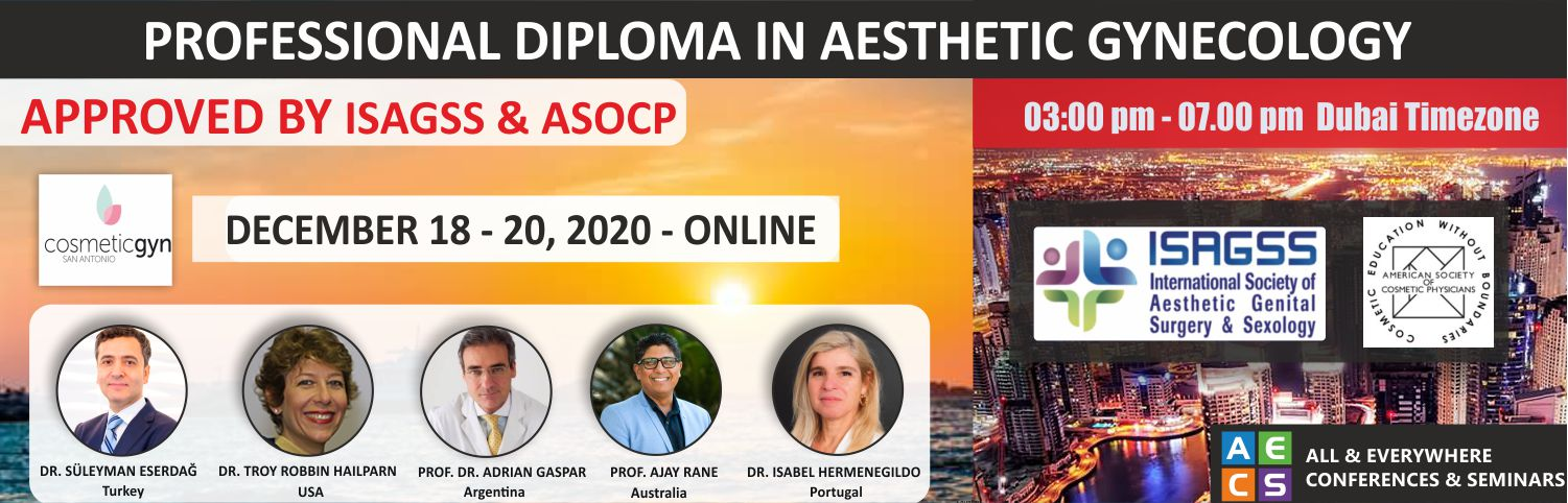 Web -Flyer - Professional Diploma in Aesthetic Gynecology - December 18 - 20, 2020