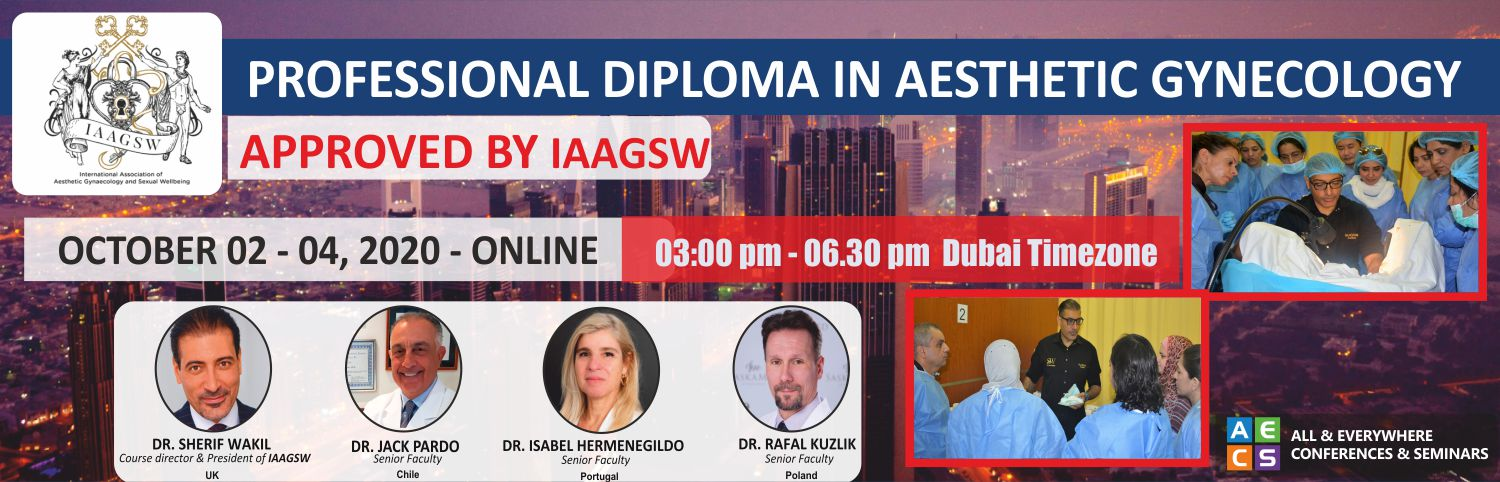 Web -IAAGSW Flyer - Professional Diploma in Aesthetic Gynecology - october 2 - 4,2020
