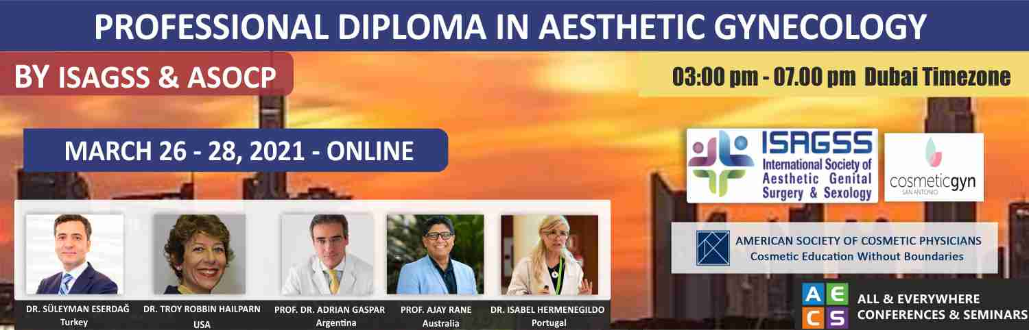 Web - Professional Diploma in Aesthetic Gynecology - March 26 - 28, 2021