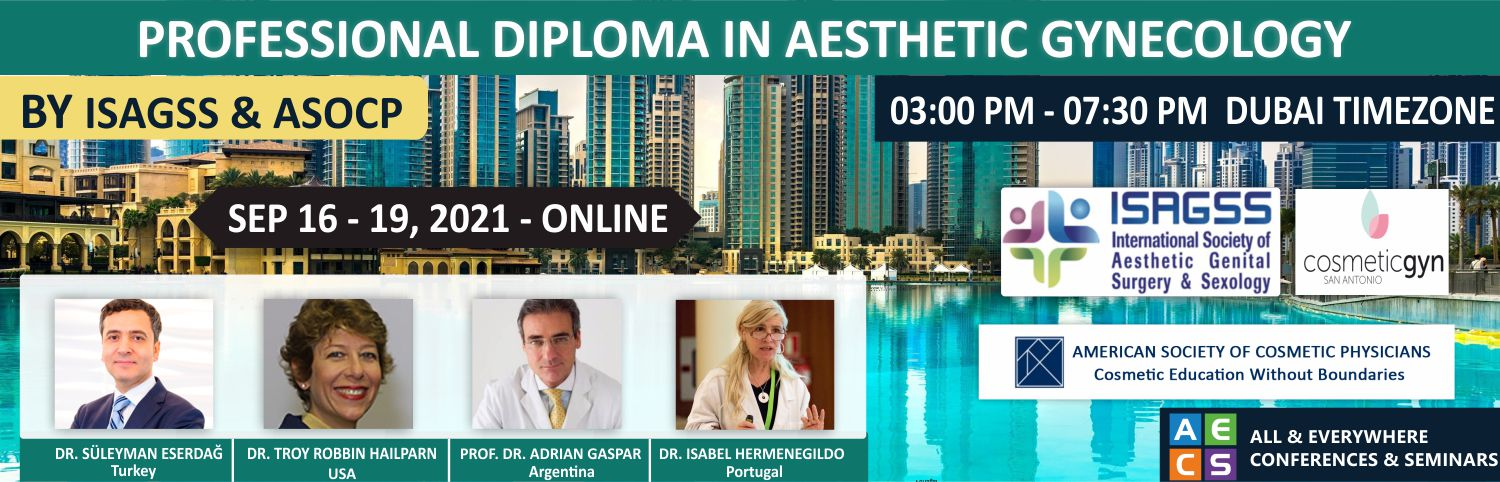 Web - Professional Diploma in Aesthetic Gynecology - September 16 - 19, 2021