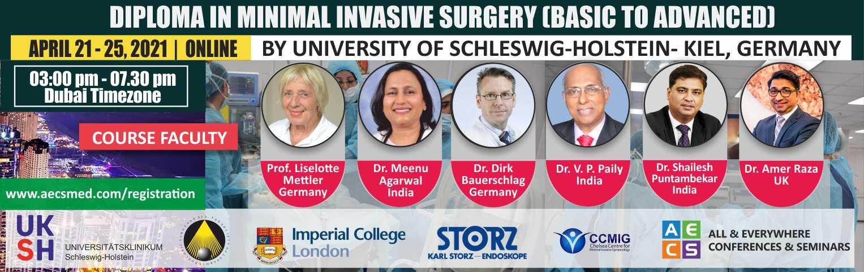 Web - Diploma in Minimal Invasive Surgery (Basic to Advanced) - April 21 - 25, 2021
