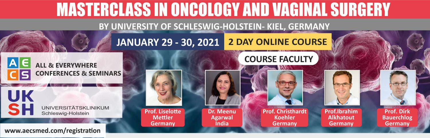 Web - Masterclass in Oncology and Vaginal Surgery - January 29 - 30, 2021