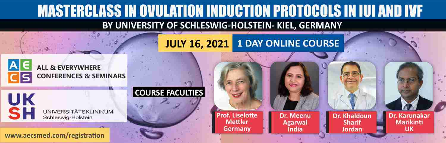 Web - Masterclass in Ovulation induction protocols in IUI and IVF - July 16, 2021