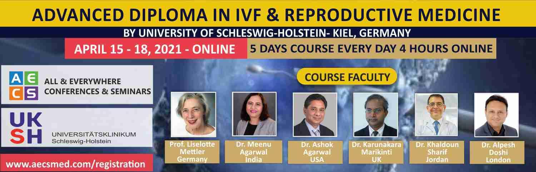 Advanced Diploma in ART and Reproductive Medicine - April 15 - 19, 2021